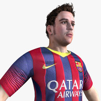 3ds max football soccer player