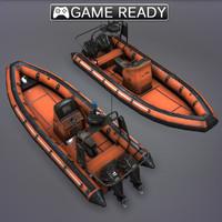 3d rib boat model
