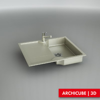 3d kitchen sink model