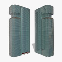 3d model of buildings skyscraper architecture