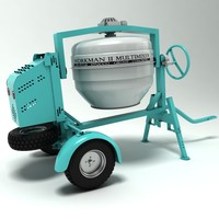 cement mixer 3d model