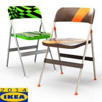 3d frode folding dining chair model