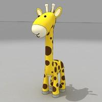 giraffe cartoon baby 3d max