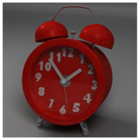 colorable alarm clock 3d model
