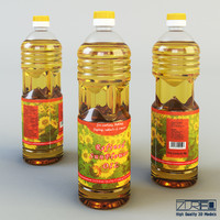 3d model oil bottle 1 liter
