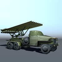 3d installation artillery katusha model