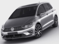 3d model of golf sportsvan sport
