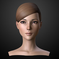 ready female head 2 3d model