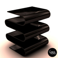 3d black lacquer magazine holder