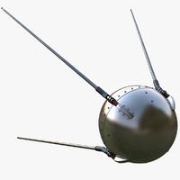 3d sputnik 1 model