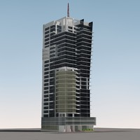 multistory commercial building 3d obj