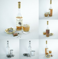 decor: glamorous alcoholic 3d model