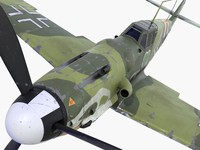 3d bf-109 german fighter 1 model