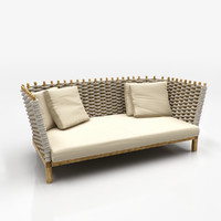 3d sofa garden model