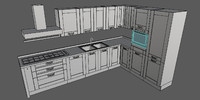 3ds max complete kitchen scene