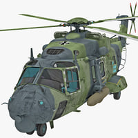 Military Helicopter NHIndustries NH90 2 Rigged