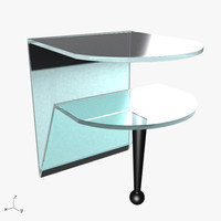3d brillo coffee table model