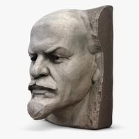 Vladimir Lenin Face Monument