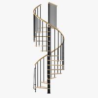 spiral stair arke 3d 3ds