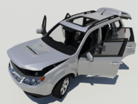3d model of subaru forester xt rigged