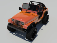 jeep wrangler custom car 3d model