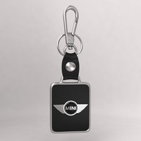 realistic mini car keychain 3d model