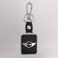 realistic mini car keychain 3d model