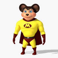 cartoon mouse character obj