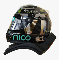 3d model racing helmet nico rosberg