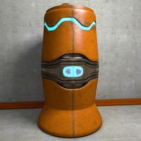 maya urn metal scifi