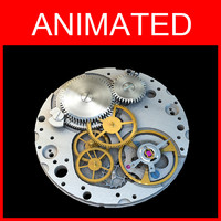 watch movement 3d max