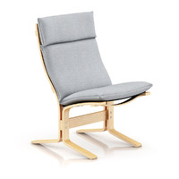 3d wooden lounge chair
