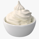 frozen yogurt 3D models
