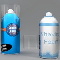 3d model shaving foam bottle