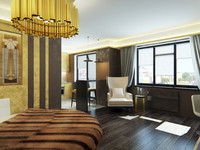 3d studio apartment interior model