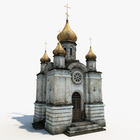 3d orthodox church model