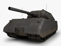 3d maus german tank model