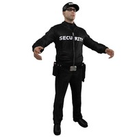 3d model security guard