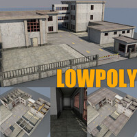 3d model factory building interior scene
