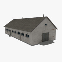 barn modeled 3d model