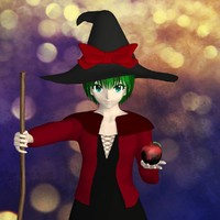 3d posed witch