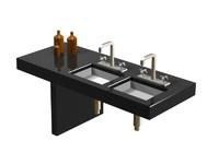 3d model axor 3 hole basin