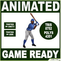 Black Baseball Batter 8752 tris