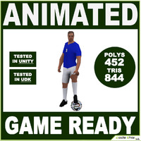 team ball soccer player 3d model
