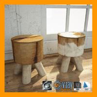 3d goat stool model