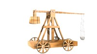 3d catapult trebuchet model