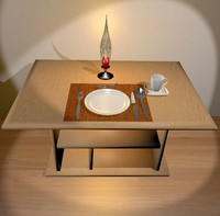 3d model table cover