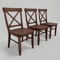 3dsmax set cross-back chairs