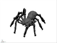 monster spider 3d obj
