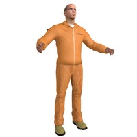 convict prisoner 3d model